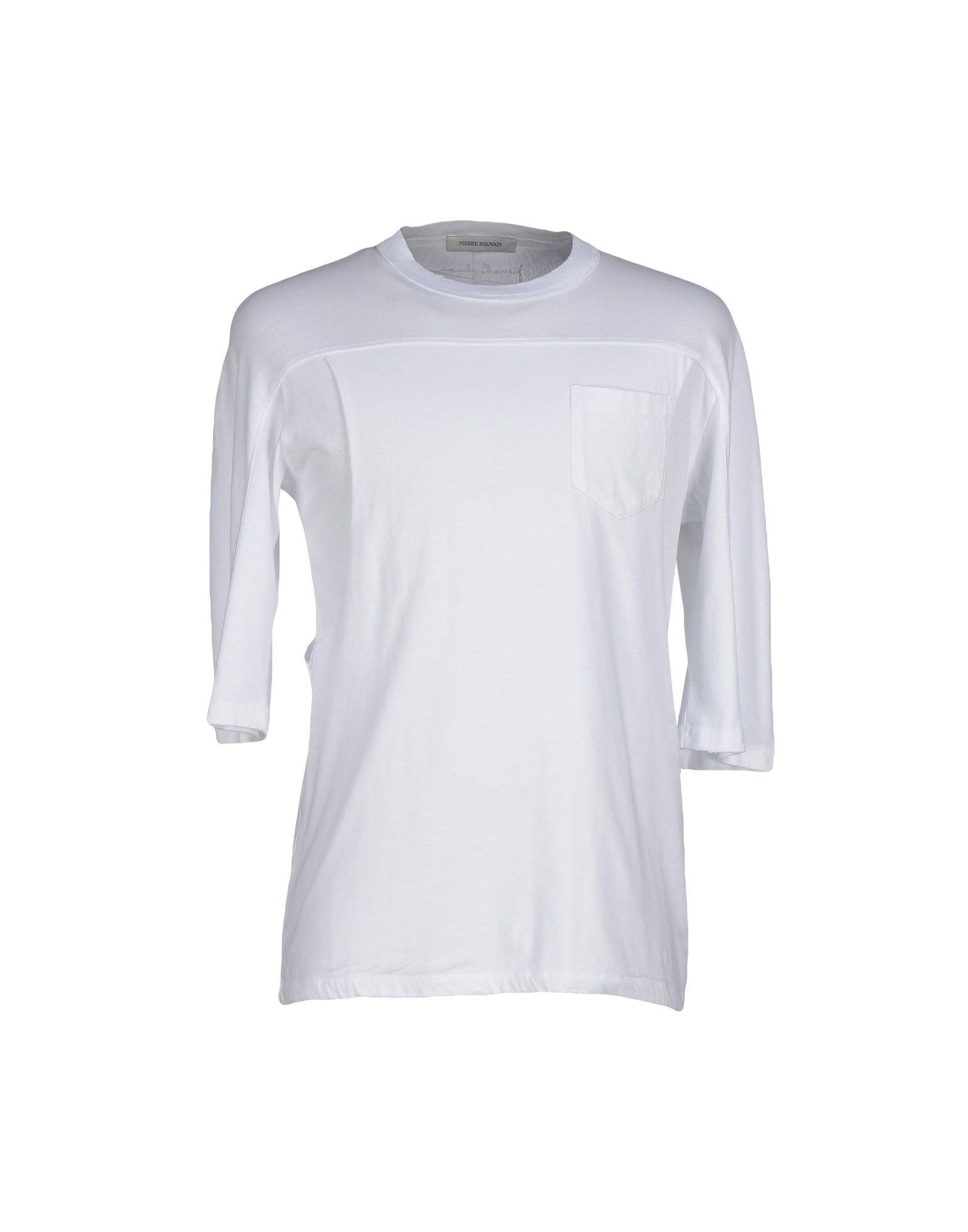 Lyst Balmain T Shirt In White For Men