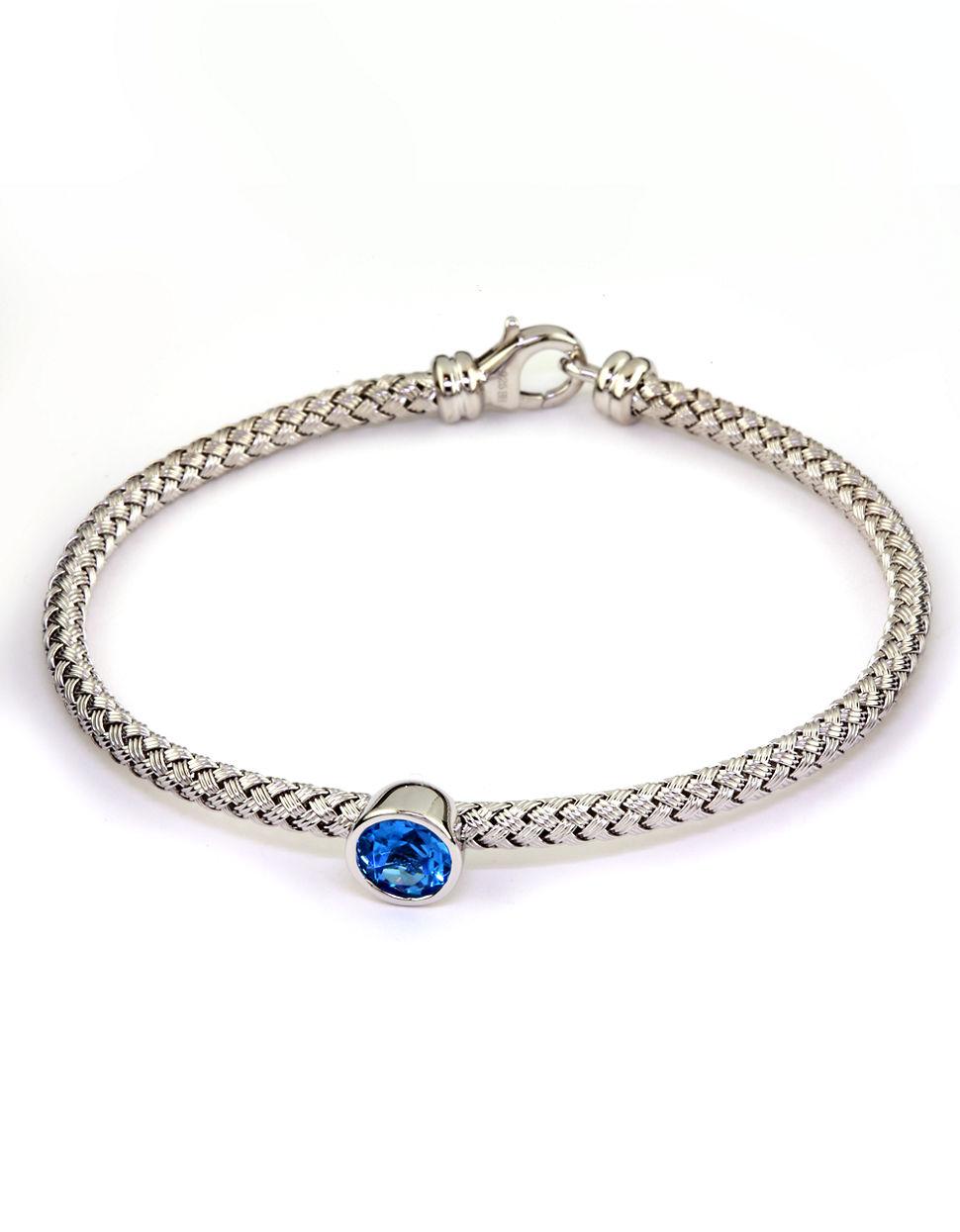 Effy Balissima Sterling Silver Blue Topaz Tennis Bracelet