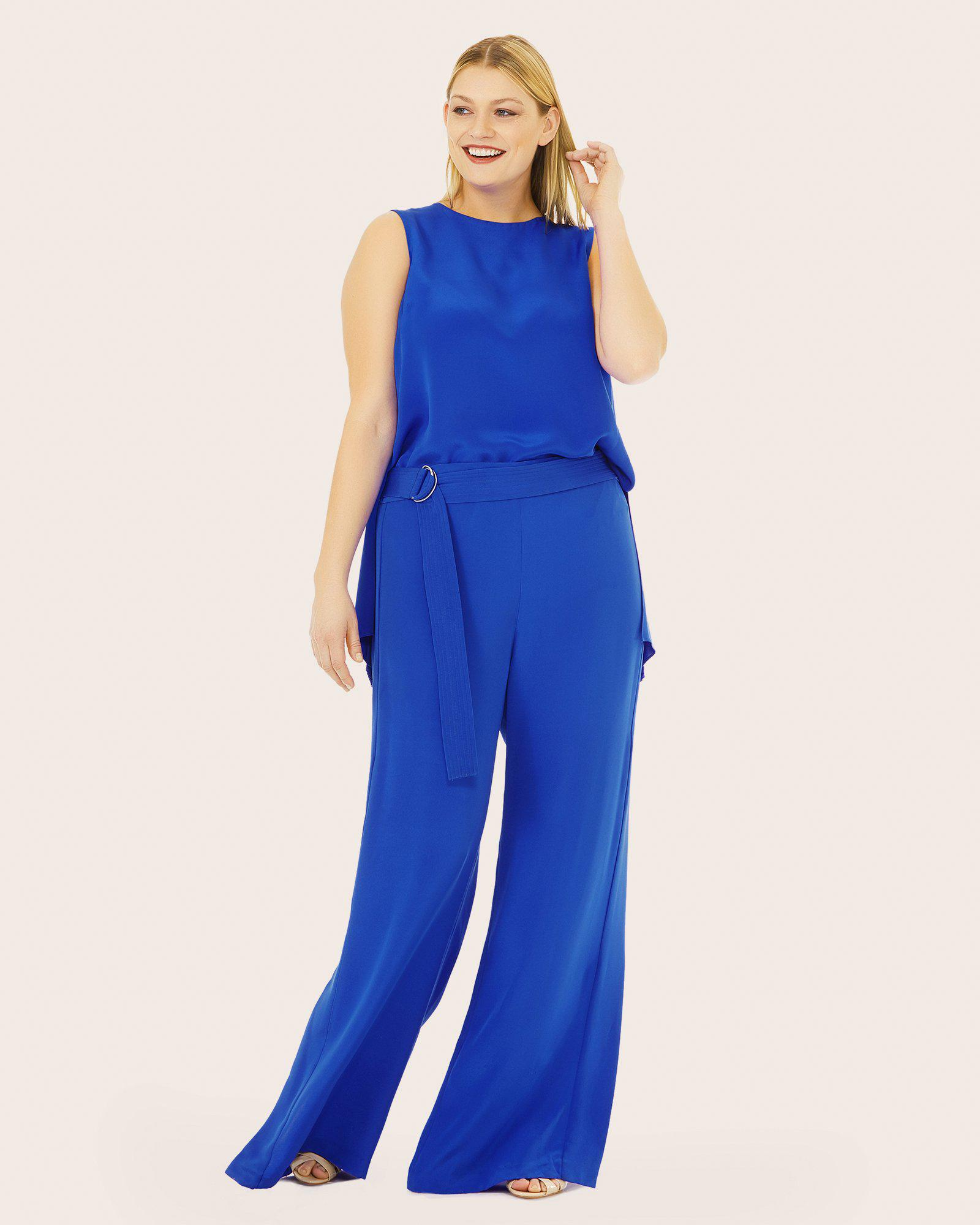 For Sale The Cheapest Clearance Wiki Belted Silk Crepe De Chine Wide-leg Pants - Bright blue Adam Lippes Purchase Sale Online Enjoy 0FEJqOpQQ
