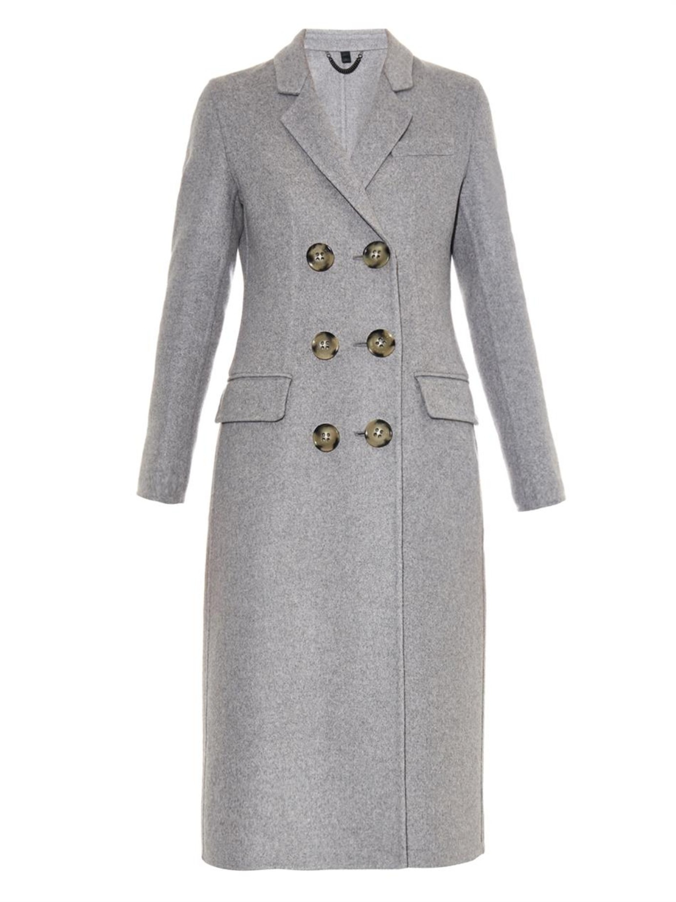 Lyst Burberry Prorsum Double Breasted Cashmere Coat In Gray