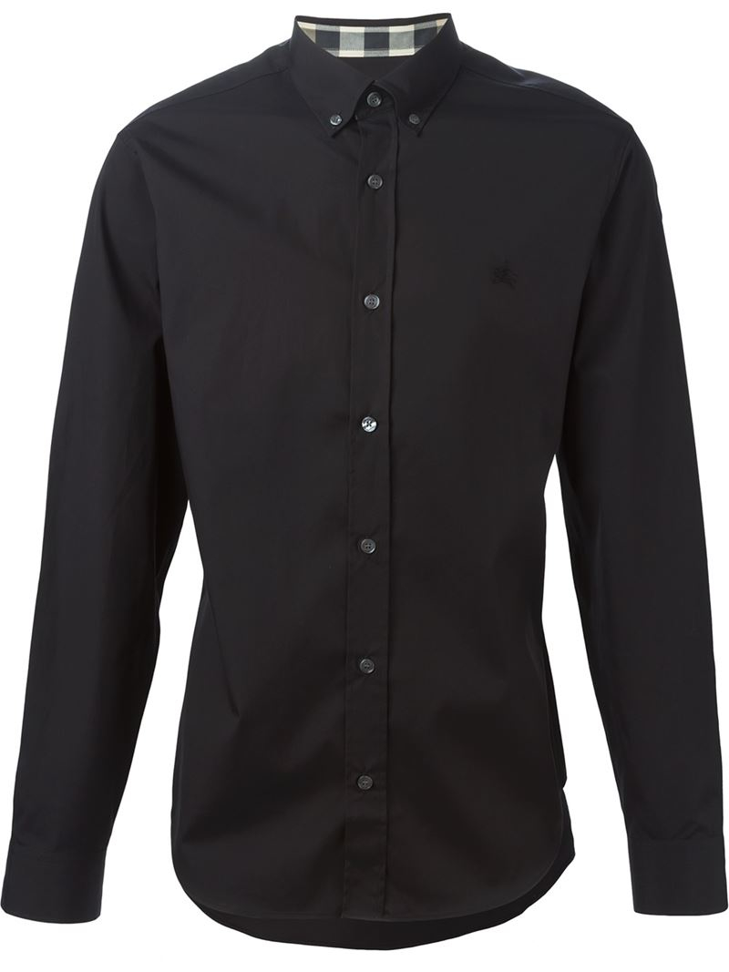 Burberry Brit Classic Button Down Shirt In Black For Men