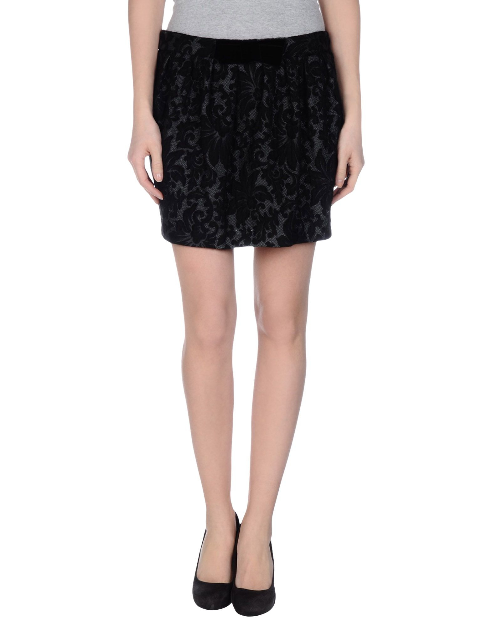 hanita mini skirt in black lyst