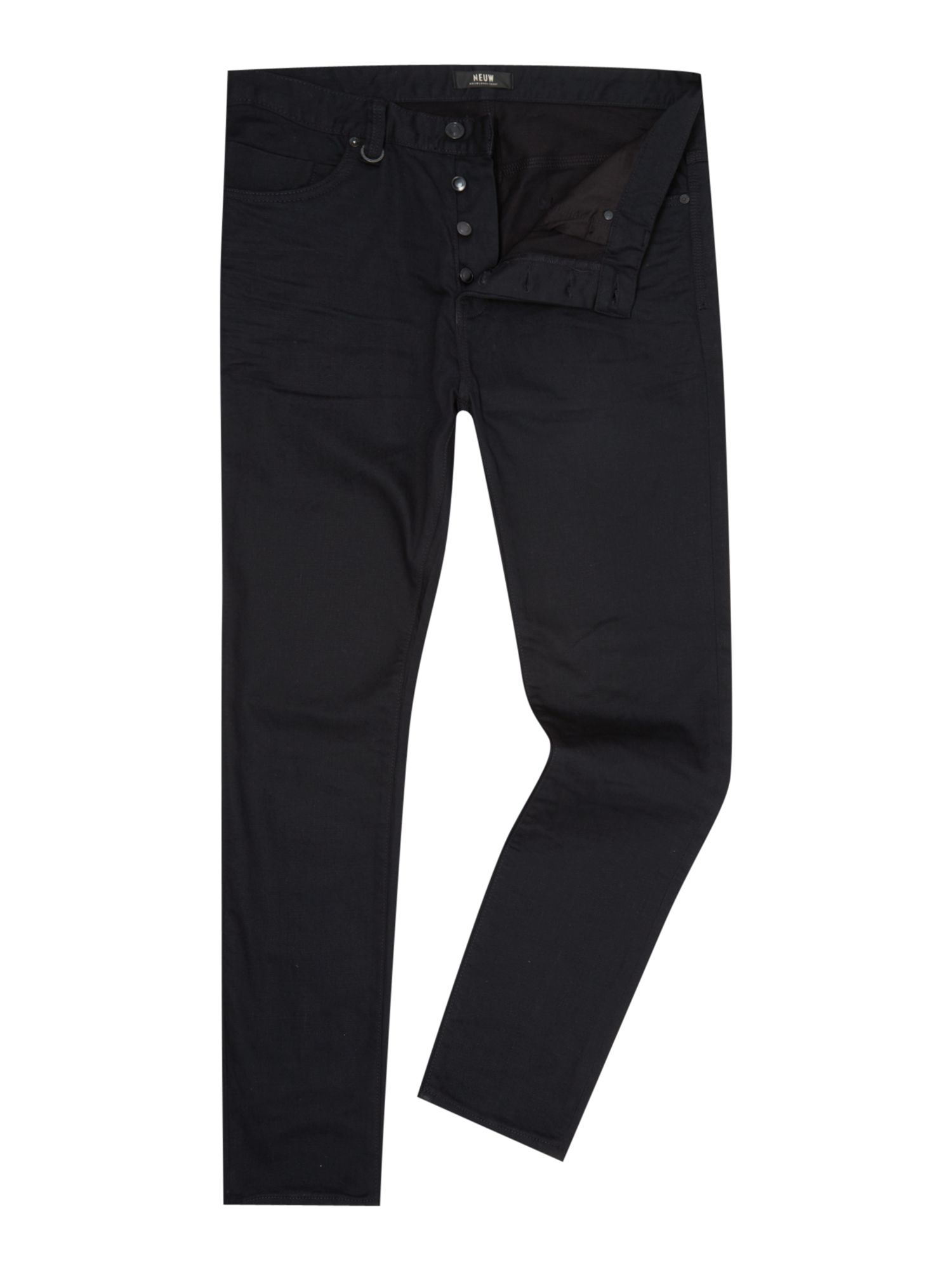 Neuw Ray Pure Black Tapered Fit Jean in Black for Men | Lyst