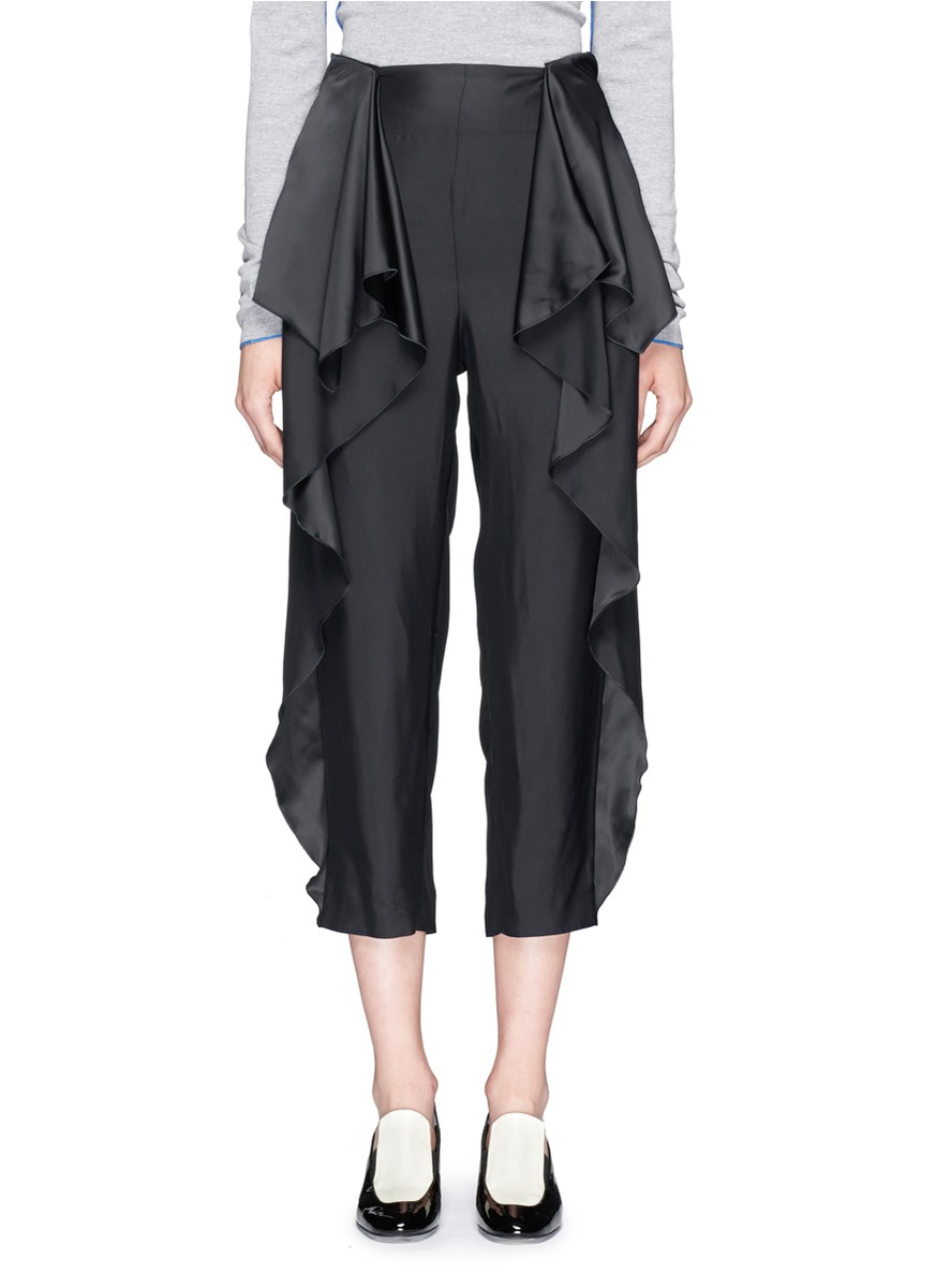 Designer Women S Pants With Side Ruffles