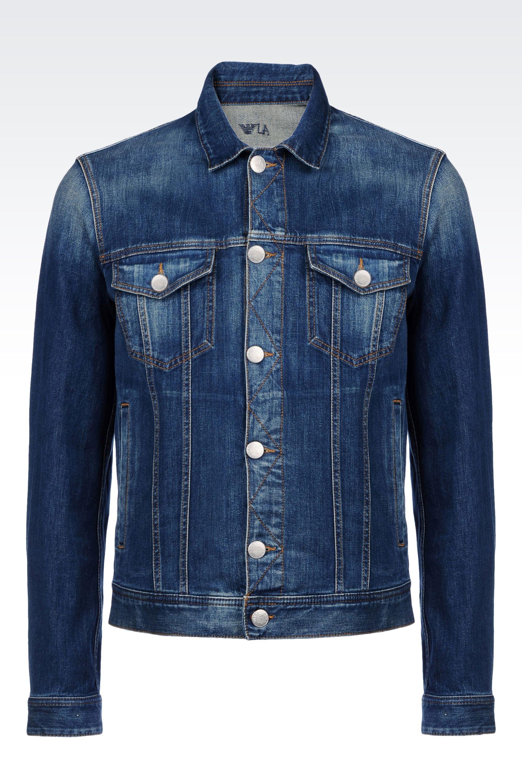 Armani jeans Denim Jacket in Blue for Men | Lyst Denim Jacket Photography