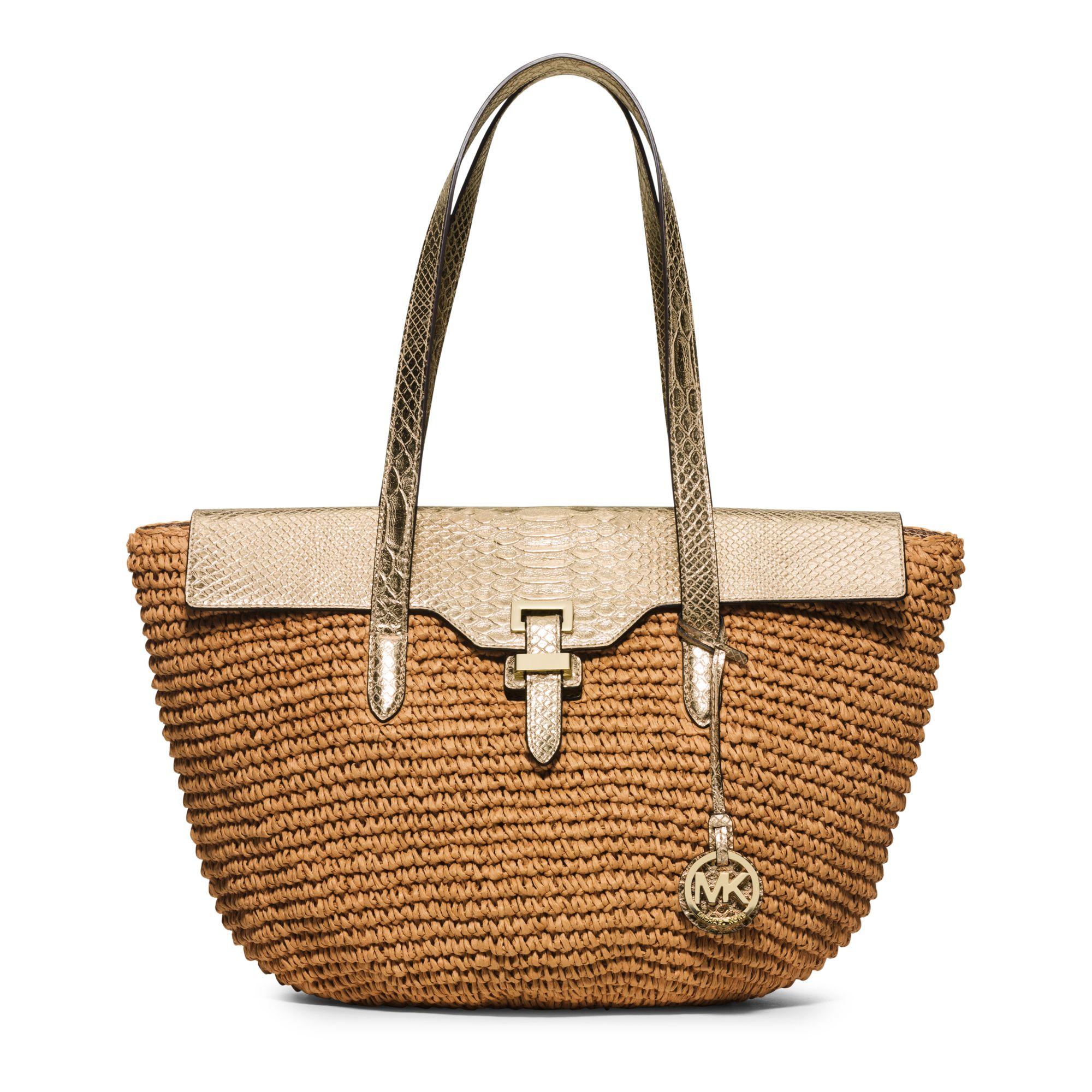 5508262646e9 Michael Kors Straw Handbag - Foto Handbag All Collections ...