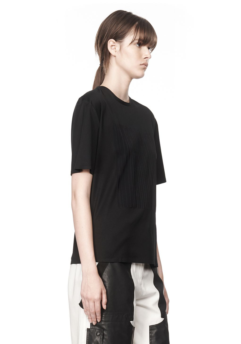 Alexander Wang T Shirt With Barcode Logo In Black Lyst