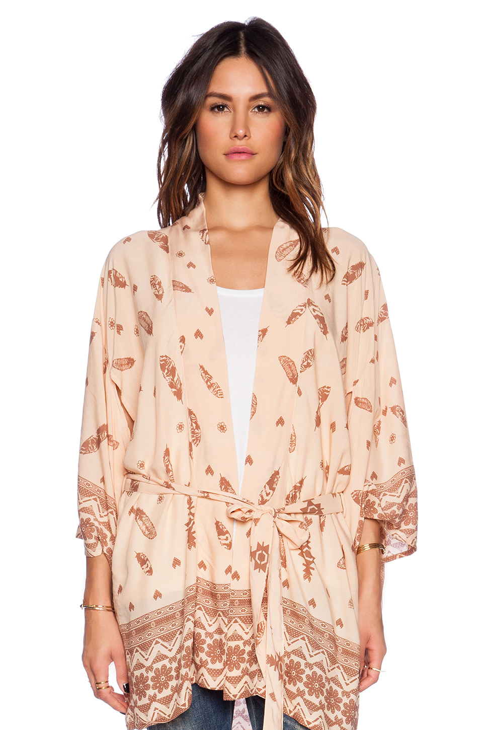 Spell & the gypsy collective Skill Tribe Kimono in Natural | Lyst