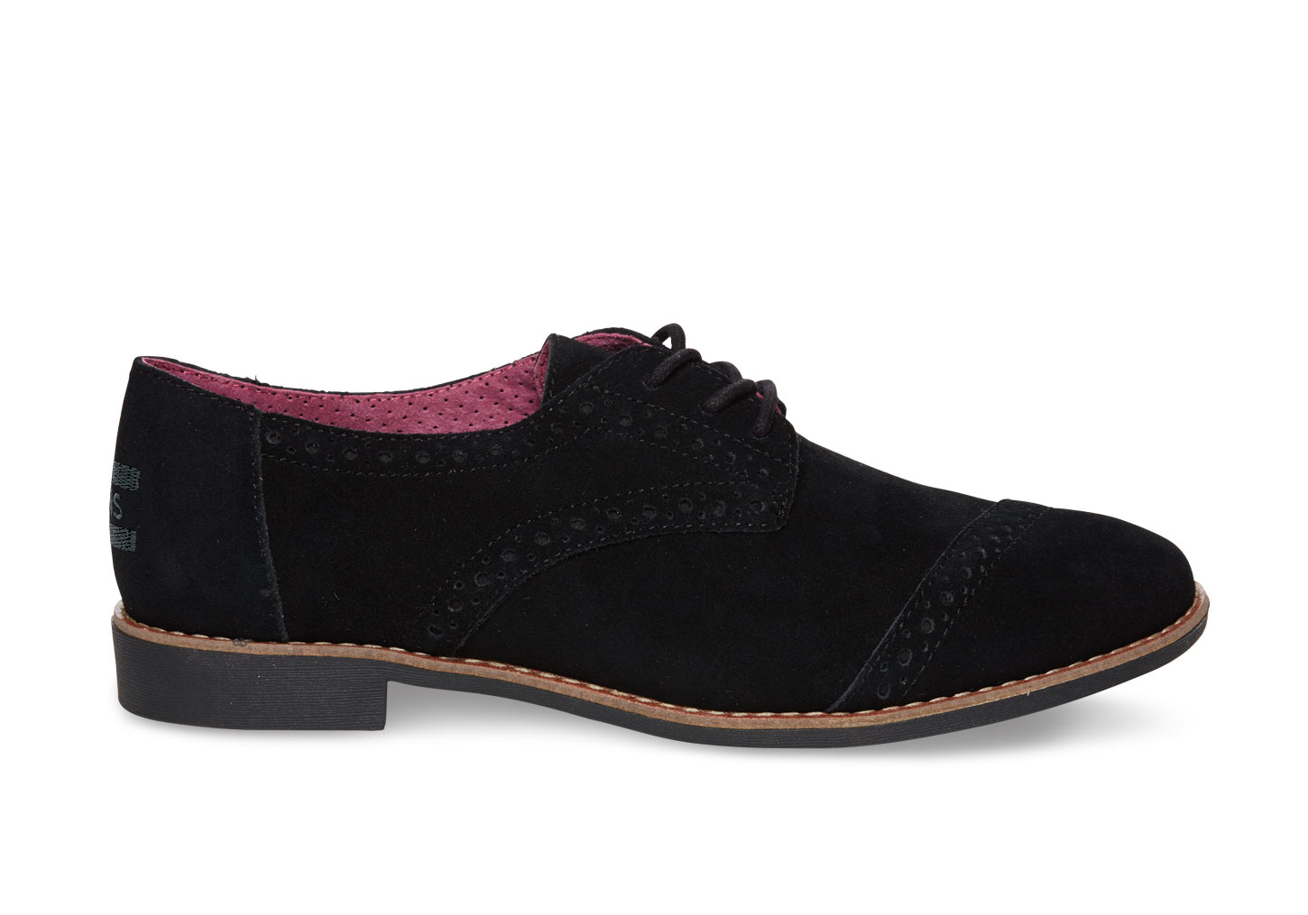 Black Suede Oxford Shoes Womens