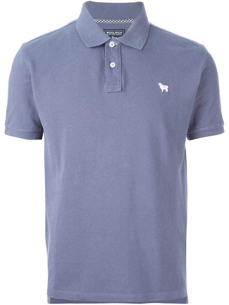 logo embroidered polo shirt - Blue Woolrich Classic 0YA904ci