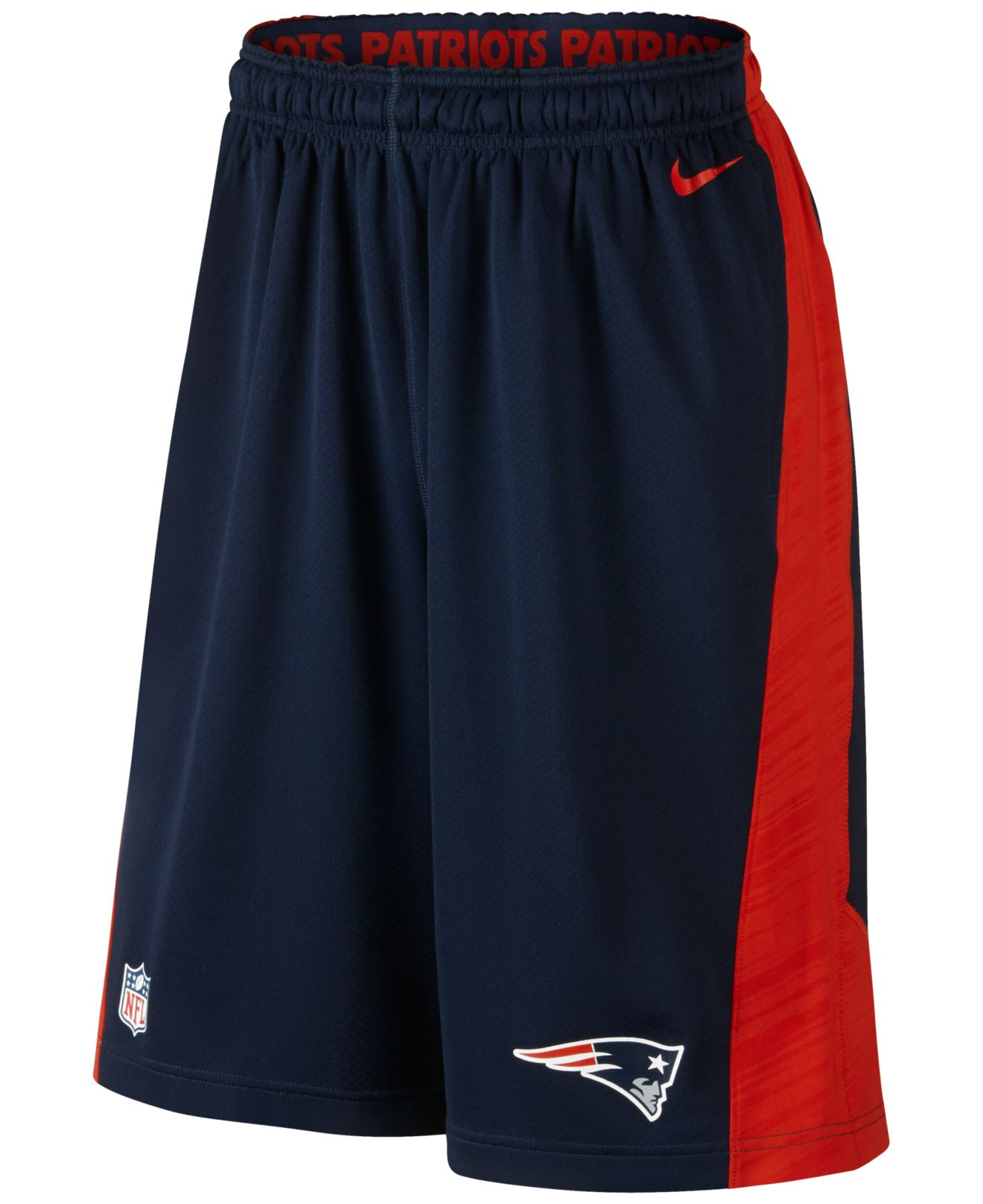 Lyst - Nike Men S New England Patriots Fly Xl Dri-Fit Shorts in Blue ... 0771dfe07