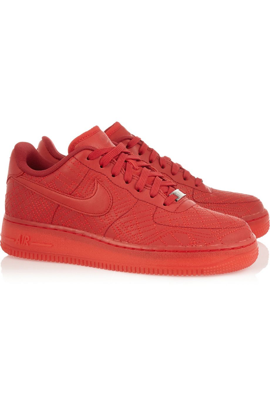 nike air force 1 tokyo leather sneakers in red lyst. Black Bedroom Furniture Sets. Home Design Ideas