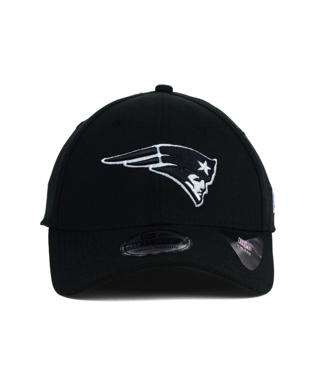 Lyst - KTZ New England Patriots Black and White Classic 39thirty Cap ... c89ee9d81