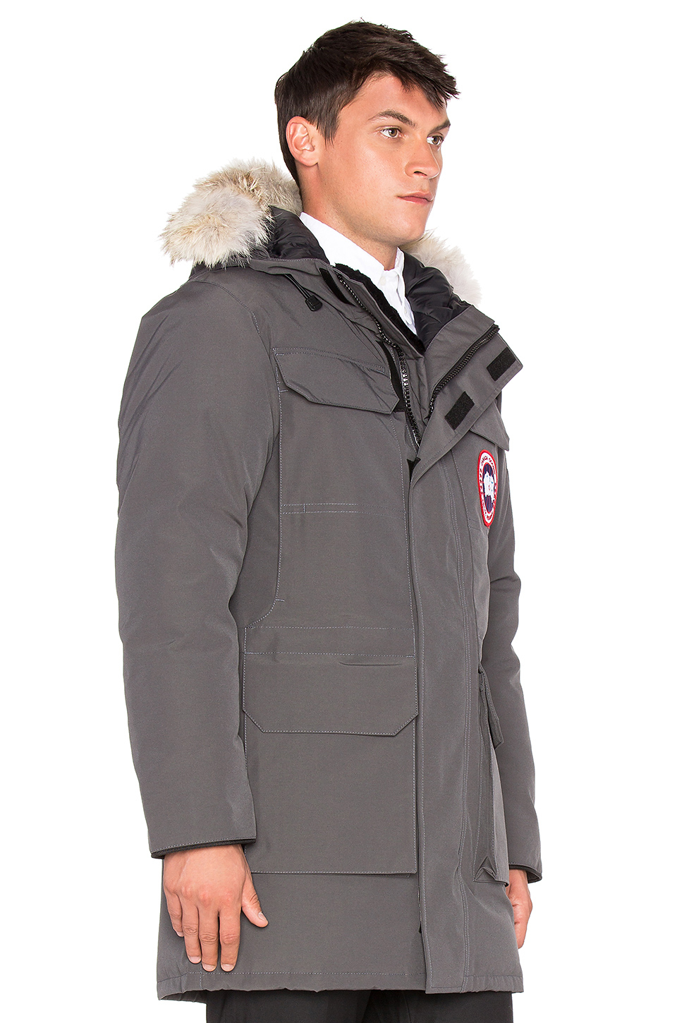 Canada Goose toronto outlet fake - Canada goose Citadel Coyote Fur Trim Parka in Gray for Men ...