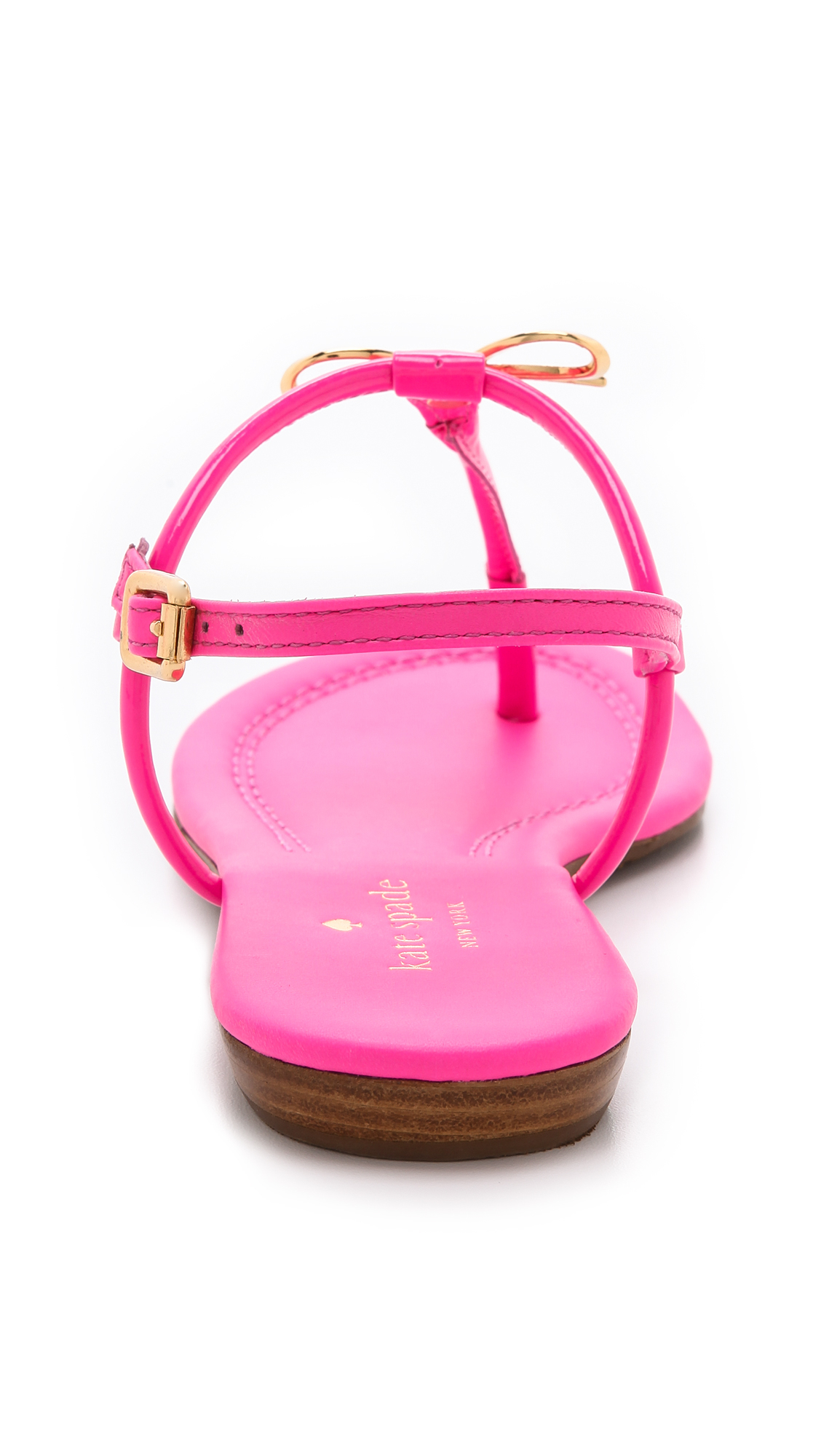 88af6b874270 Lyst - Kate Spade Tracie Bow Thong Sandals in Pink