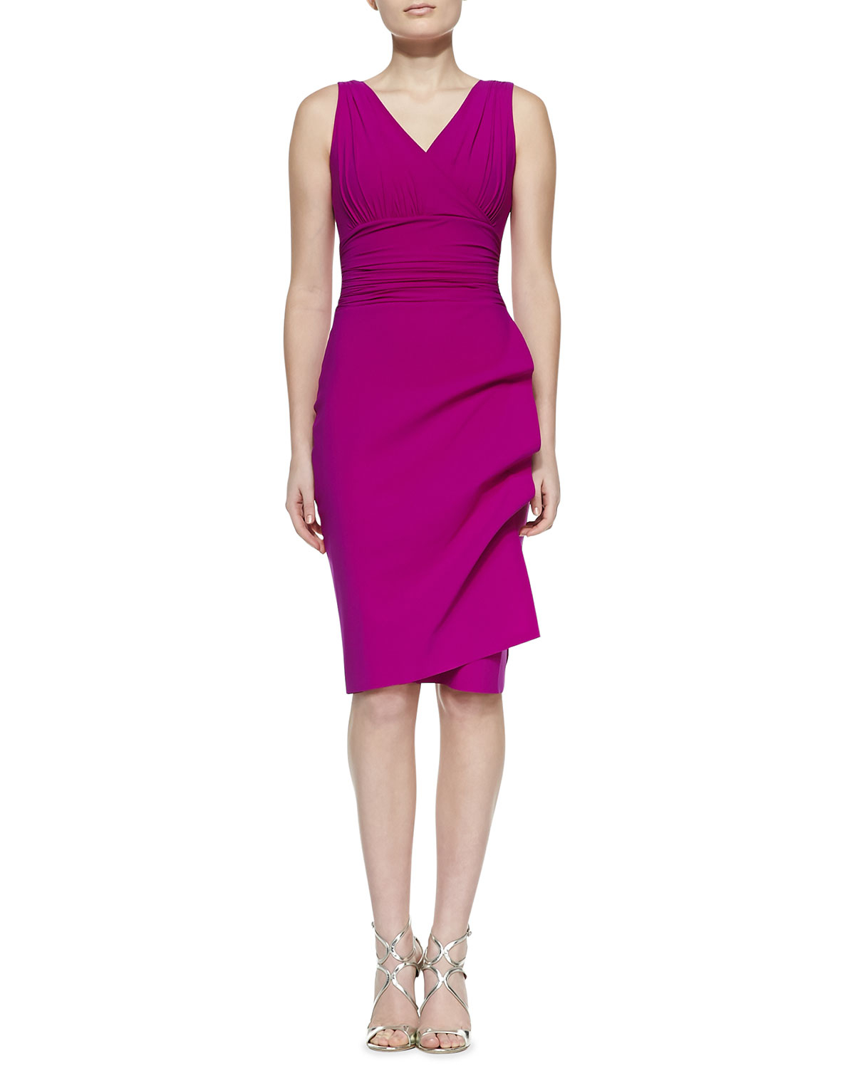 lyst la petite robe di chiara boni becky sleeveless cocktail dress in purple. Black Bedroom Furniture Sets. Home Design Ideas