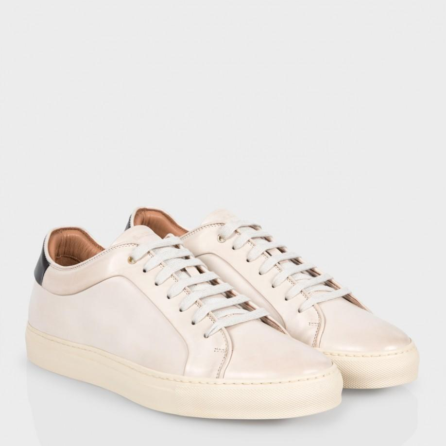 Paul smith Men's Off-white Calf Leather 'basso' Trainers ...