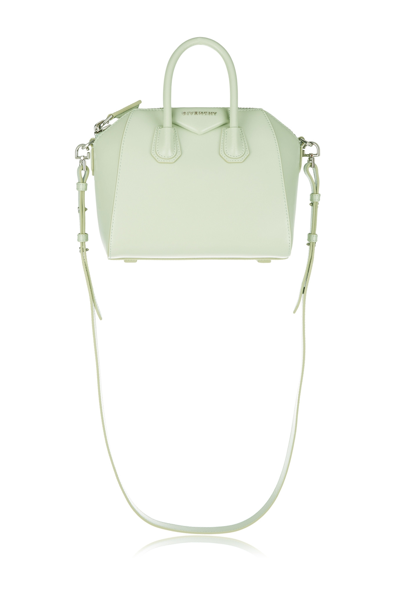6fb2131bf13c Givenchy Mini Antigona Shoulder Bag In Mint Leather in Green - Lyst