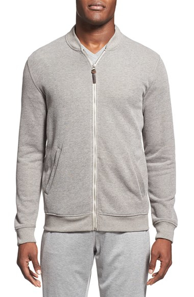 Daniel Buchler Terry Lined Lounge Jacket In Gray For Men