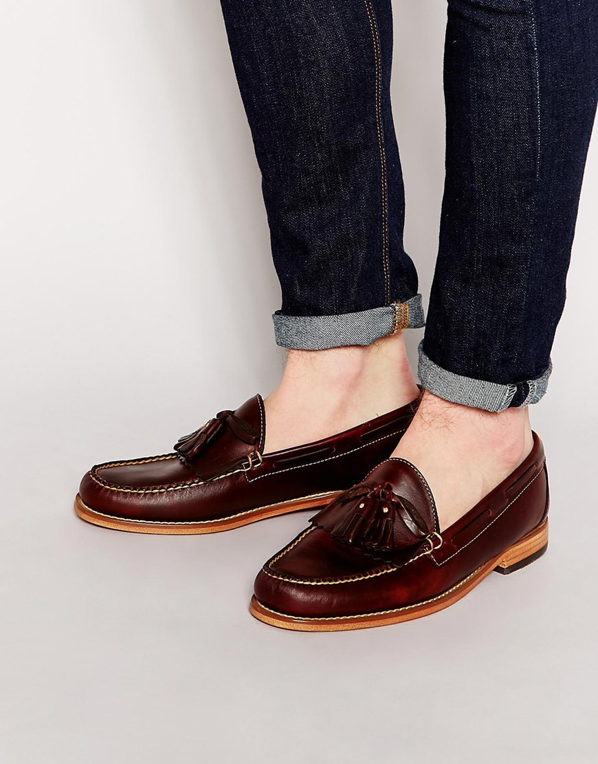 G.h. bass & co. Gh Bass Tassel Loafers in Brown