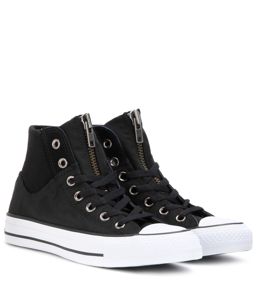 Converse Chuck Taylor All Star High Zip Sneakers In Black