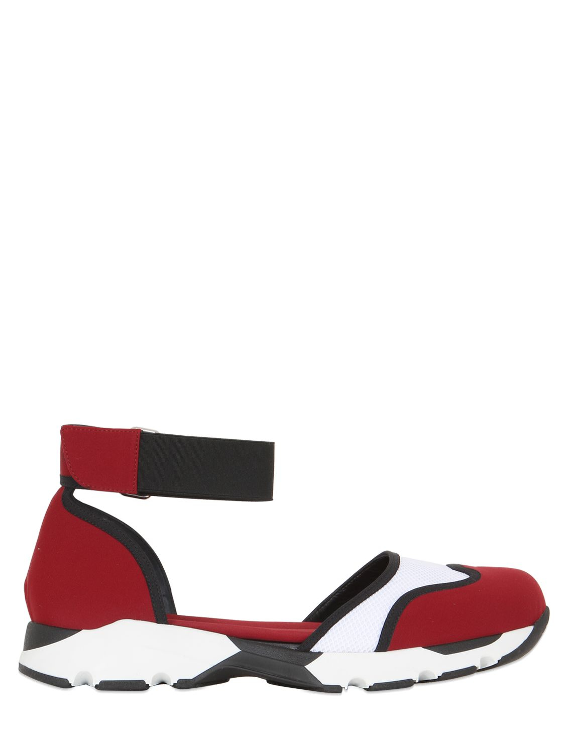 Marni 30MM MARY JANE LEATHER & MESH SNEAKERS SUPe1UCQNB