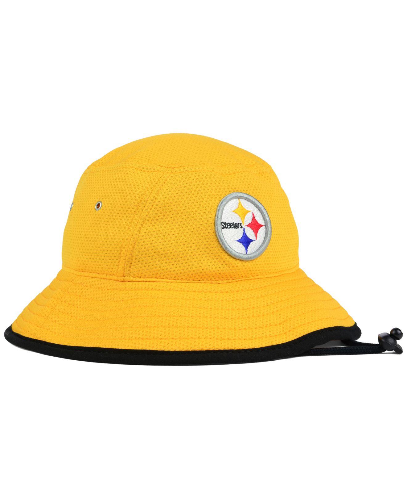 900aa272382 Lyst Ktz Pittsburgh Steelers Training Bucket Hat In Yellow For Men