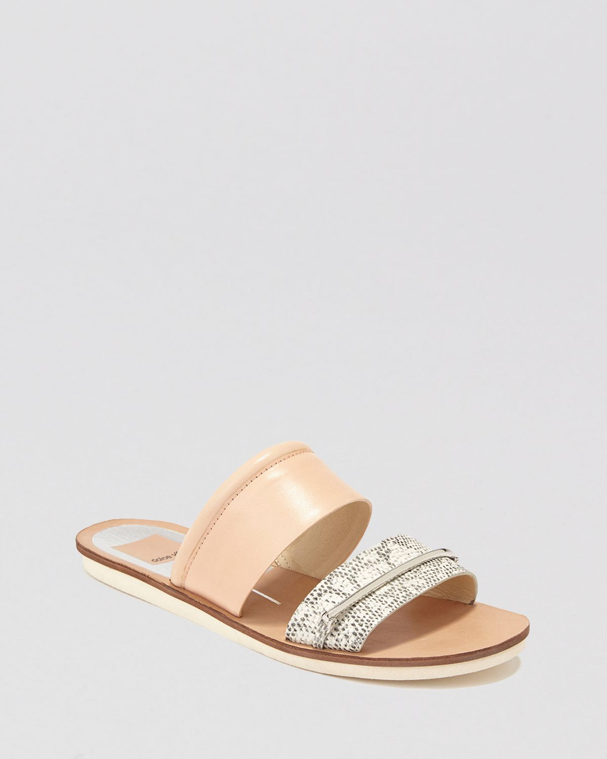 Gallery - Dolce Vita Flat Slide Sandals Neary In Natural Lyst