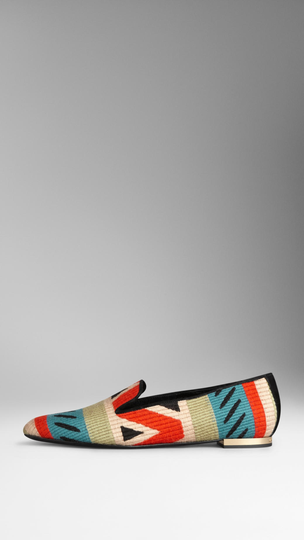 83ce1733e20 Lyst - Burberry Tapestry Loafers