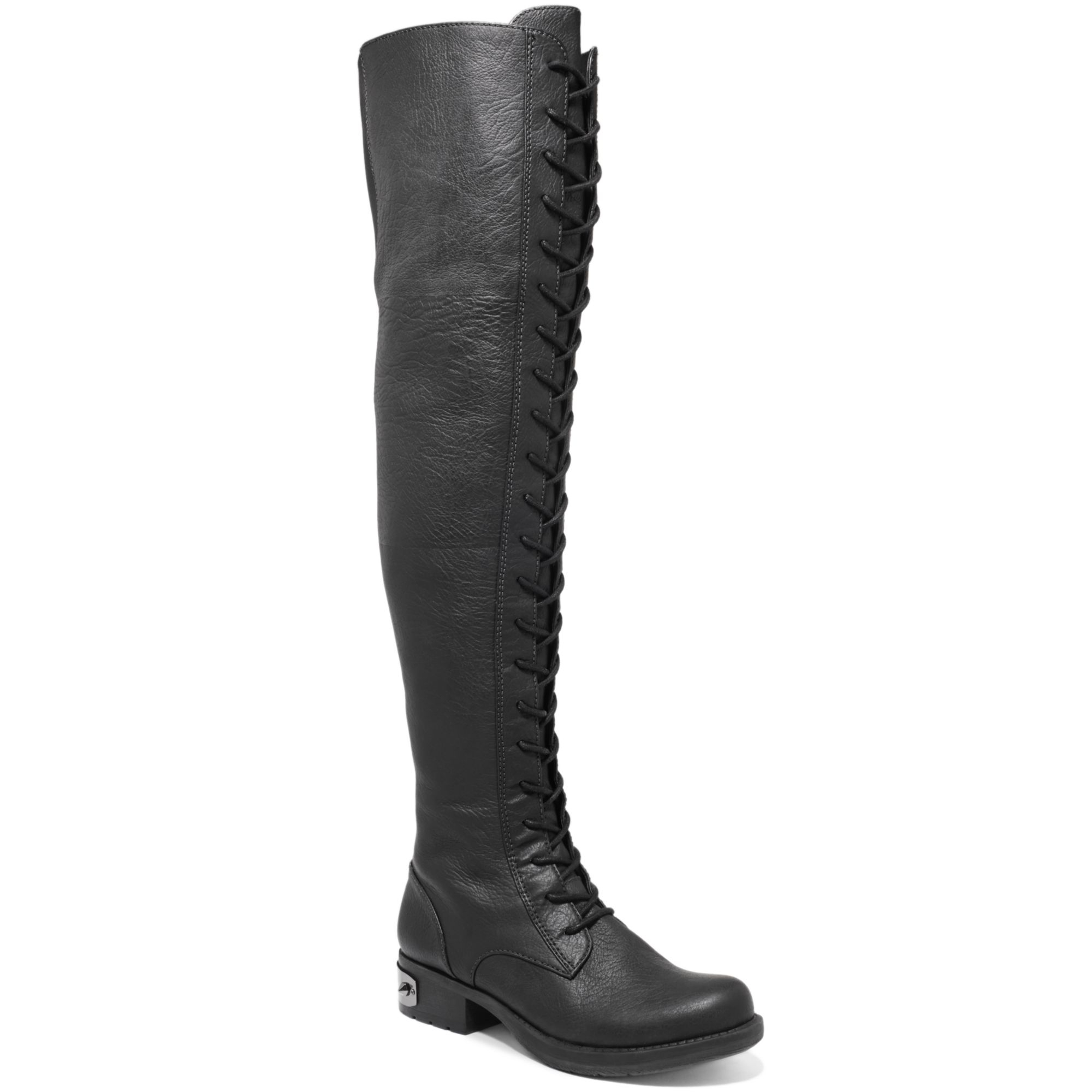 78a3785b5a6c3b Lyst - Circus by Sam Edelman Ginny Over The Knee Lace Up Boots in Black