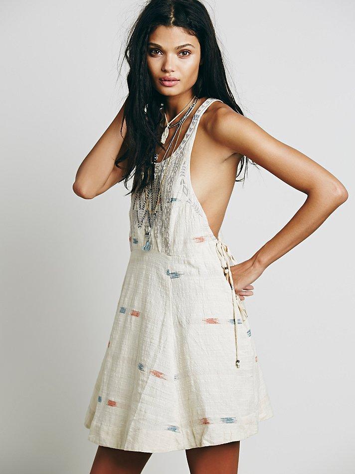 8a6df9aa2 Free People Womens Arizona Mini Dress in Natural - Lyst