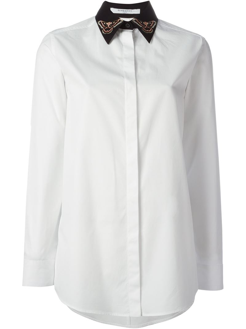 Lyst Givenchy Butterfly Patch Collar Shirt In White