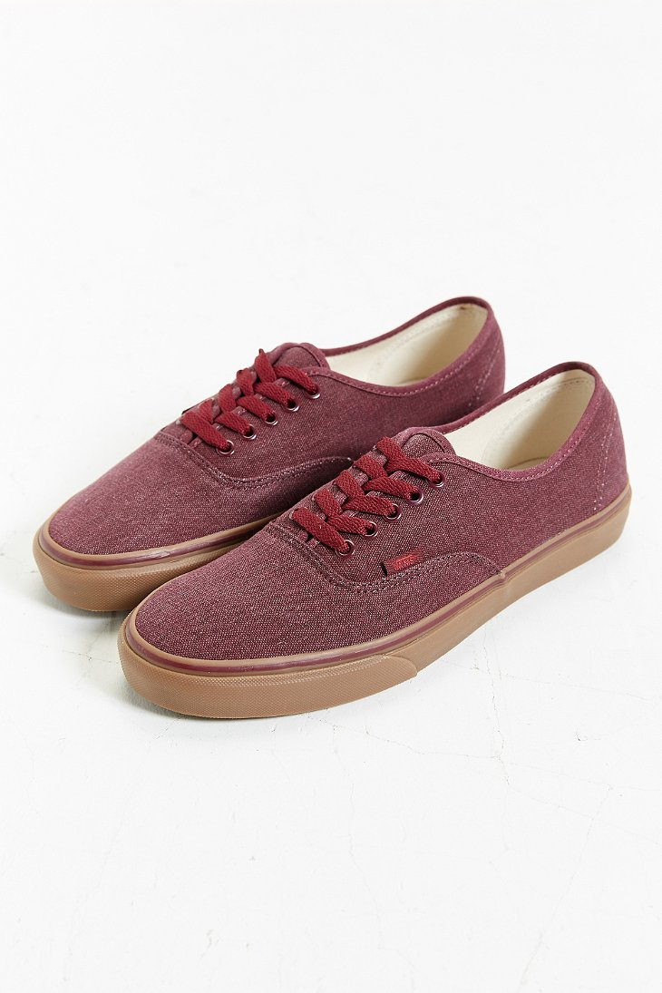 ed2cad1aa4ed93 Lyst - Vans Authentic Washed Gum Sole Sneaker in Purple for Men