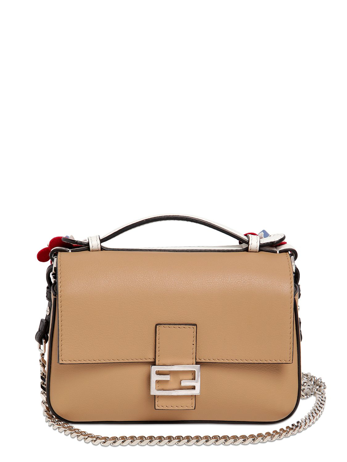 c2fa098c2003 Fendi Micro Double Baguette in Black - Lyst