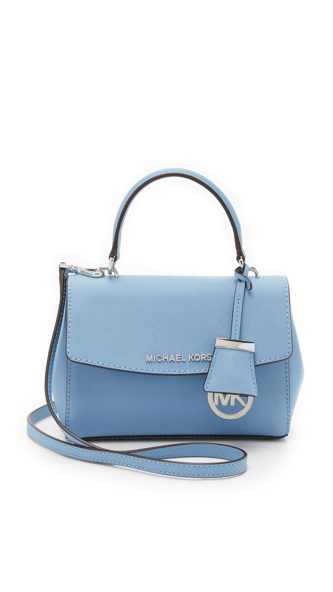 01abbabbd336 Lyst - MICHAEL Michael Kors Ava Small Cross Body Bag - Sky in Blue