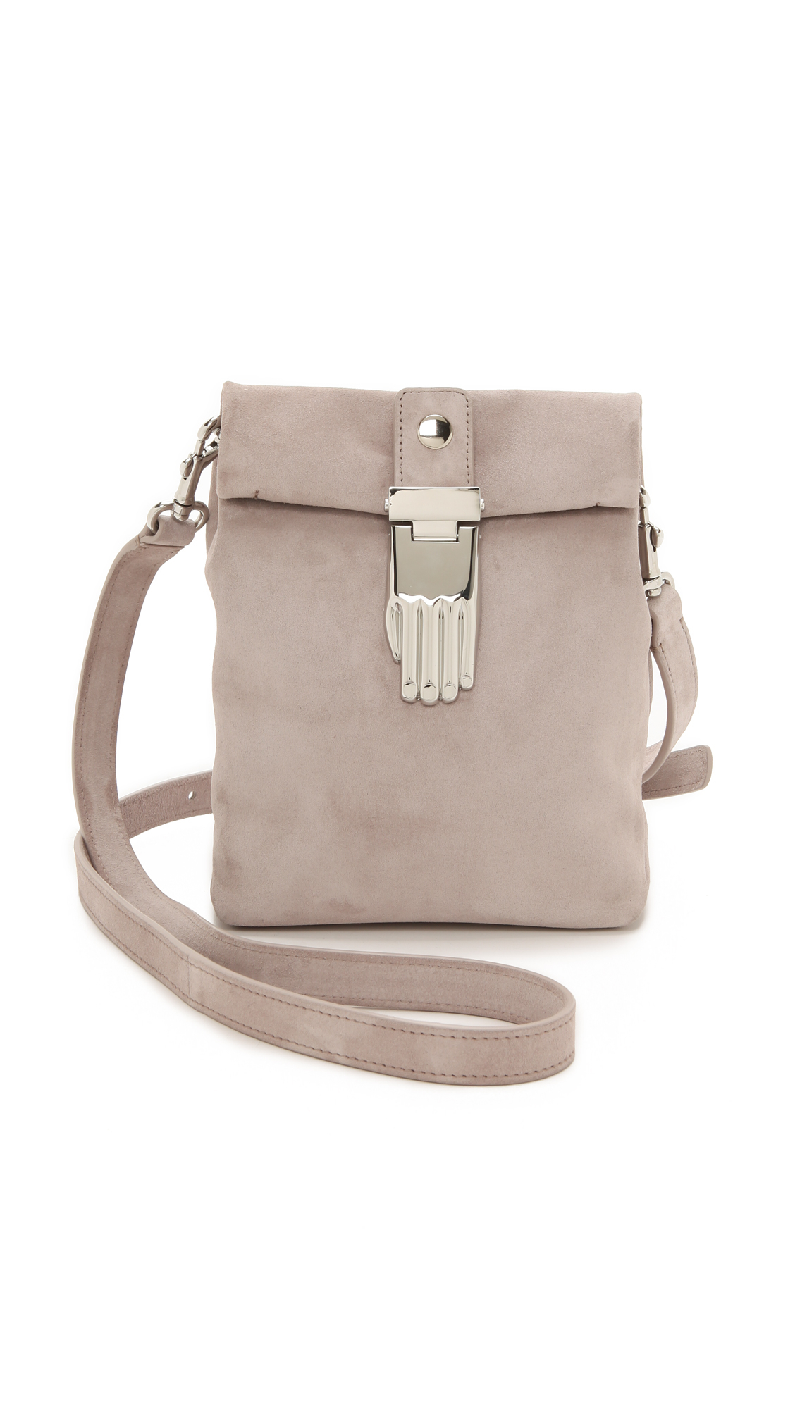 opening ceremony athena small lunch bag clay grey in