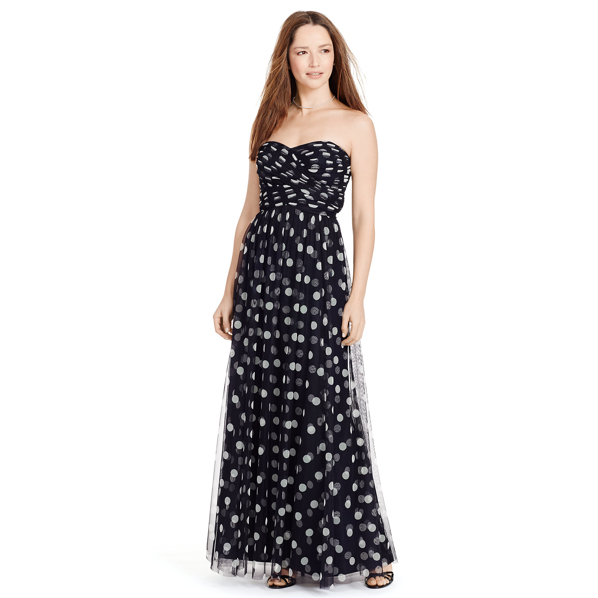 2db36d08b86 Lyst - Pink Pony Polka-dot Tulle Gown in Blue