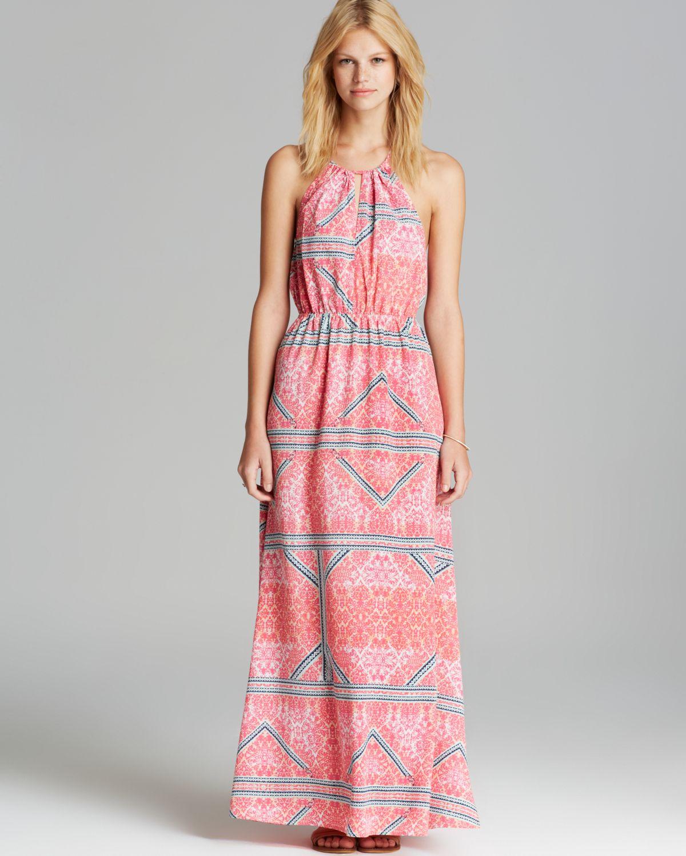 Minkpink Maxi Dress Geometric Print in Pink | Lyst
