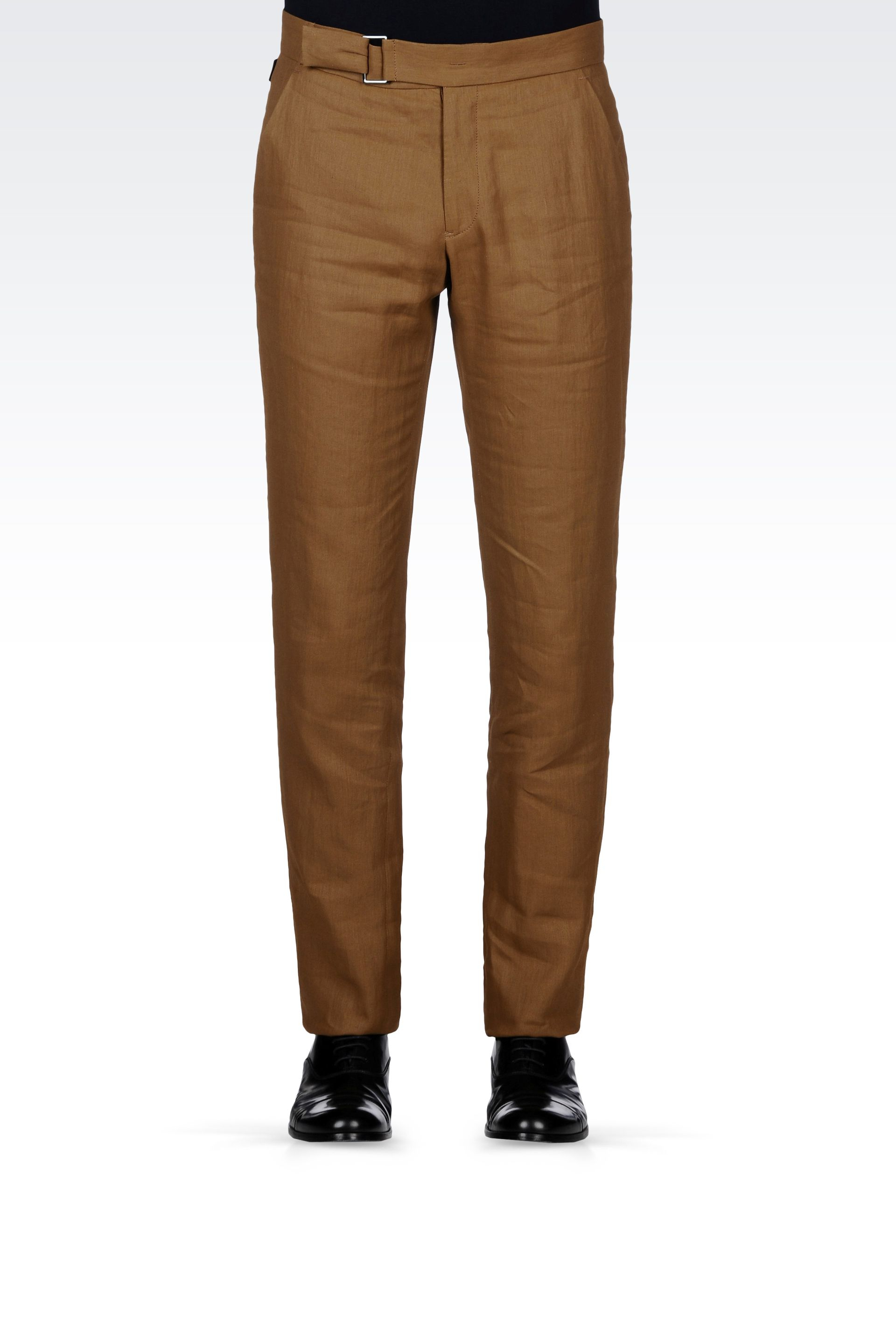 brown linen pants for men - Pi Pants