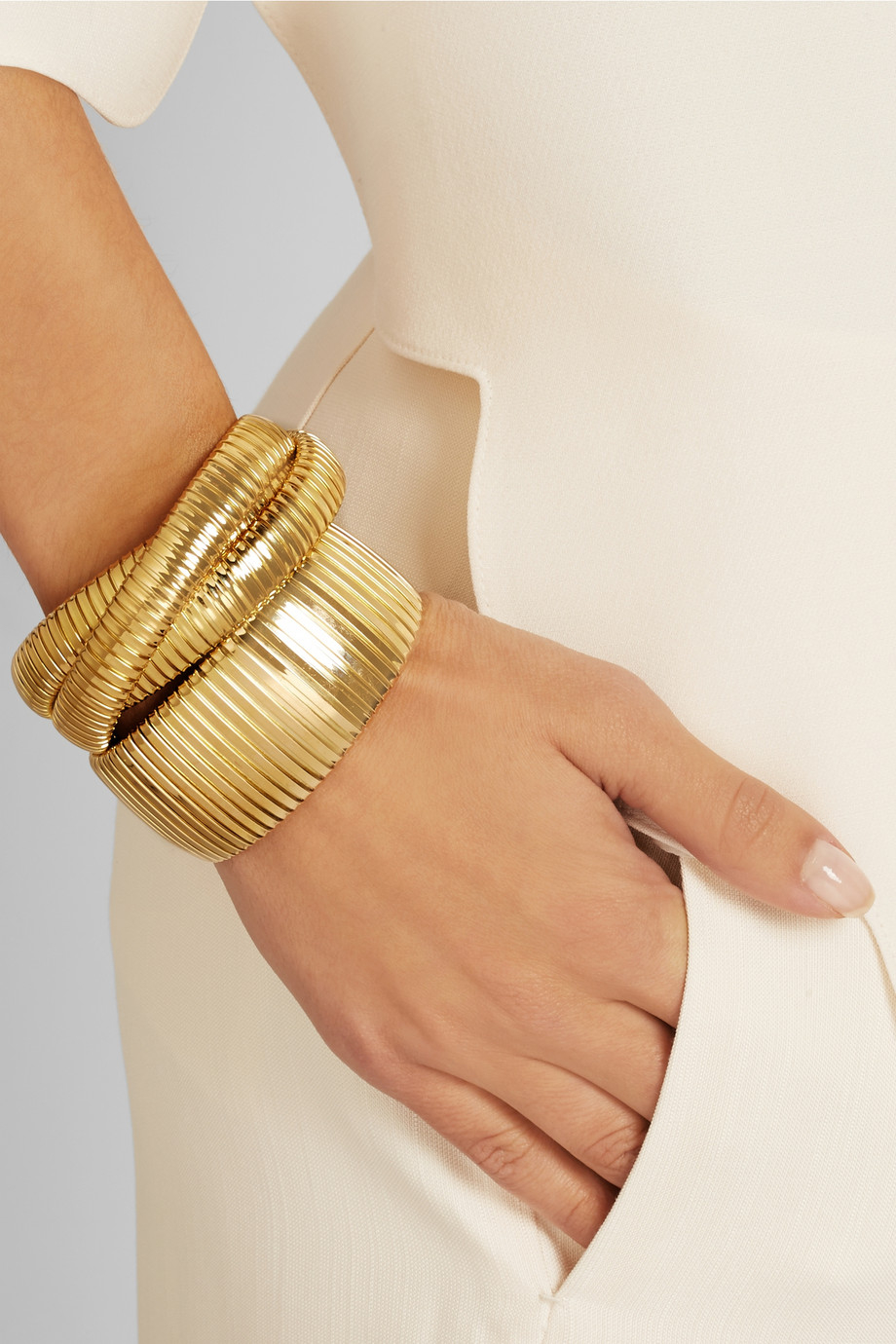 Lyst Sidney Garber The Golden 18 Karat Gold Bracelet In Metallic