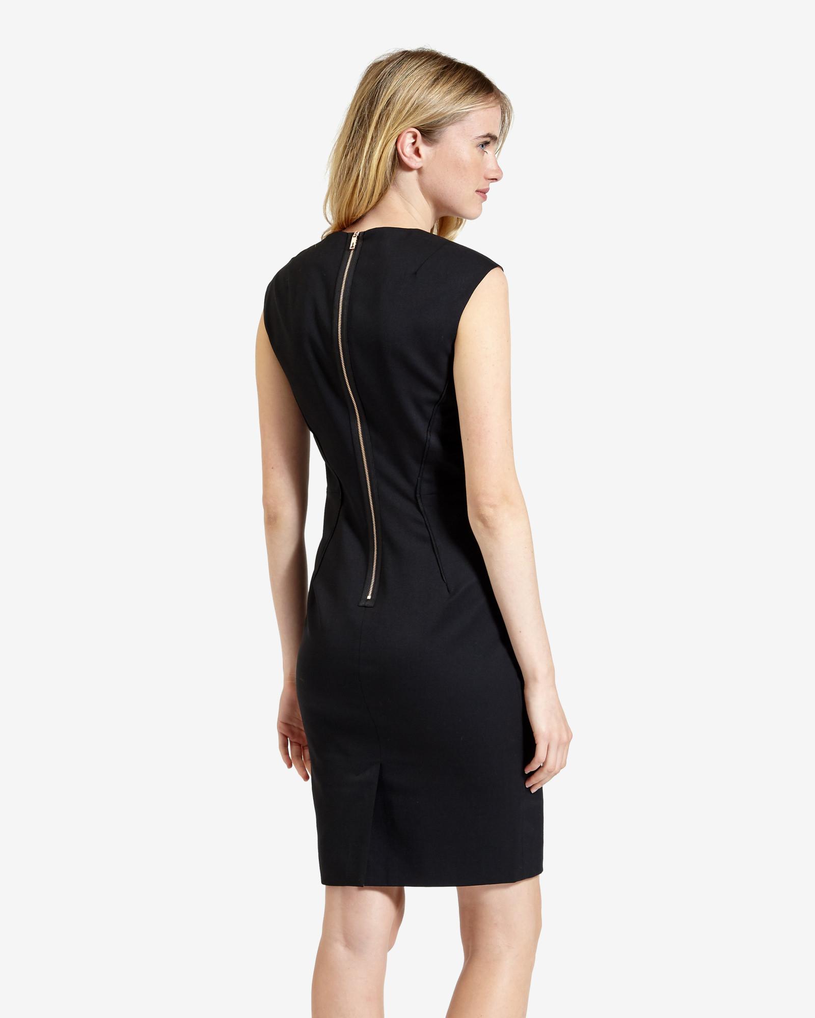 Ted baker Suit Dress in Black | Lyst