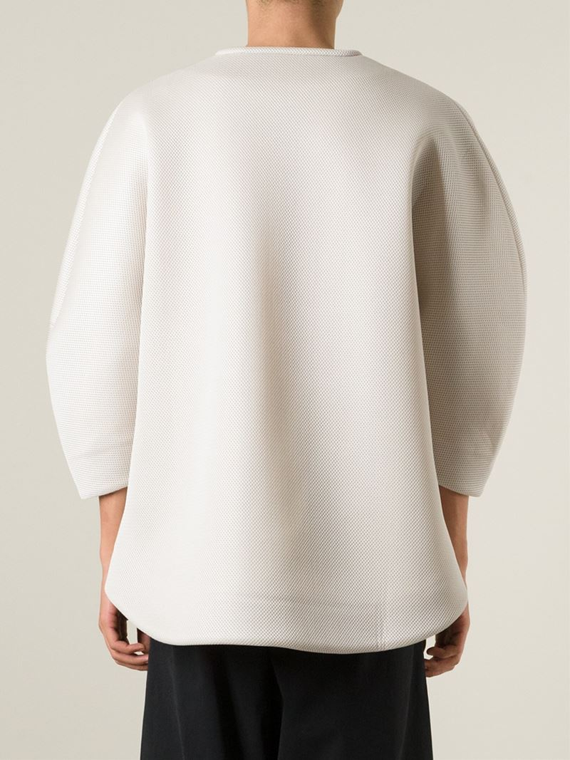 Lyst henrik vibskov origami face sweater in white for men jeuxipadfo Gallery