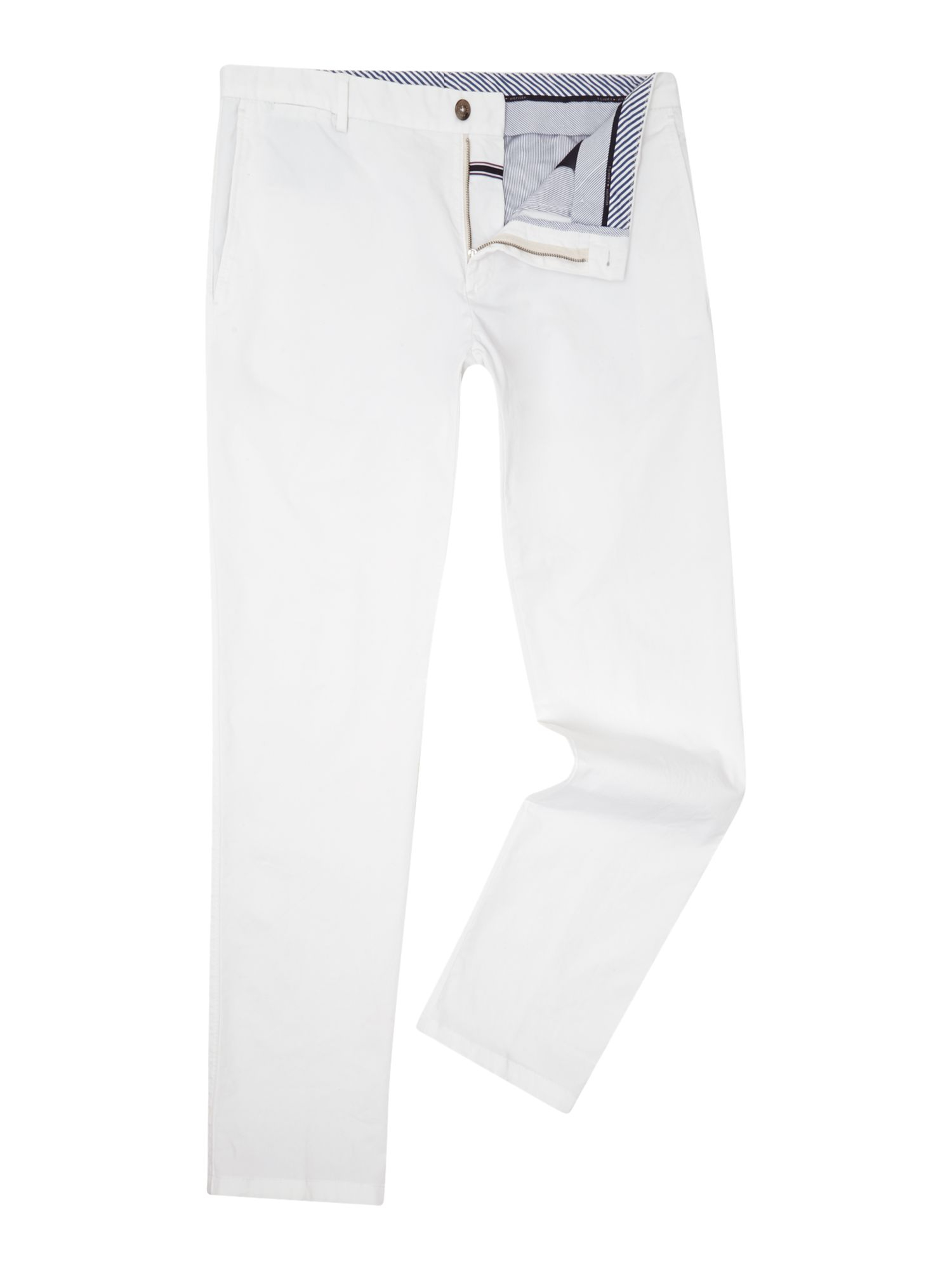 tommy hilfiger william w slim fit chino in white for men. Black Bedroom Furniture Sets. Home Design Ideas