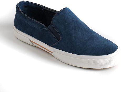 Michael Michael Kors Boerum Suede Slip On Sneakers In Blue