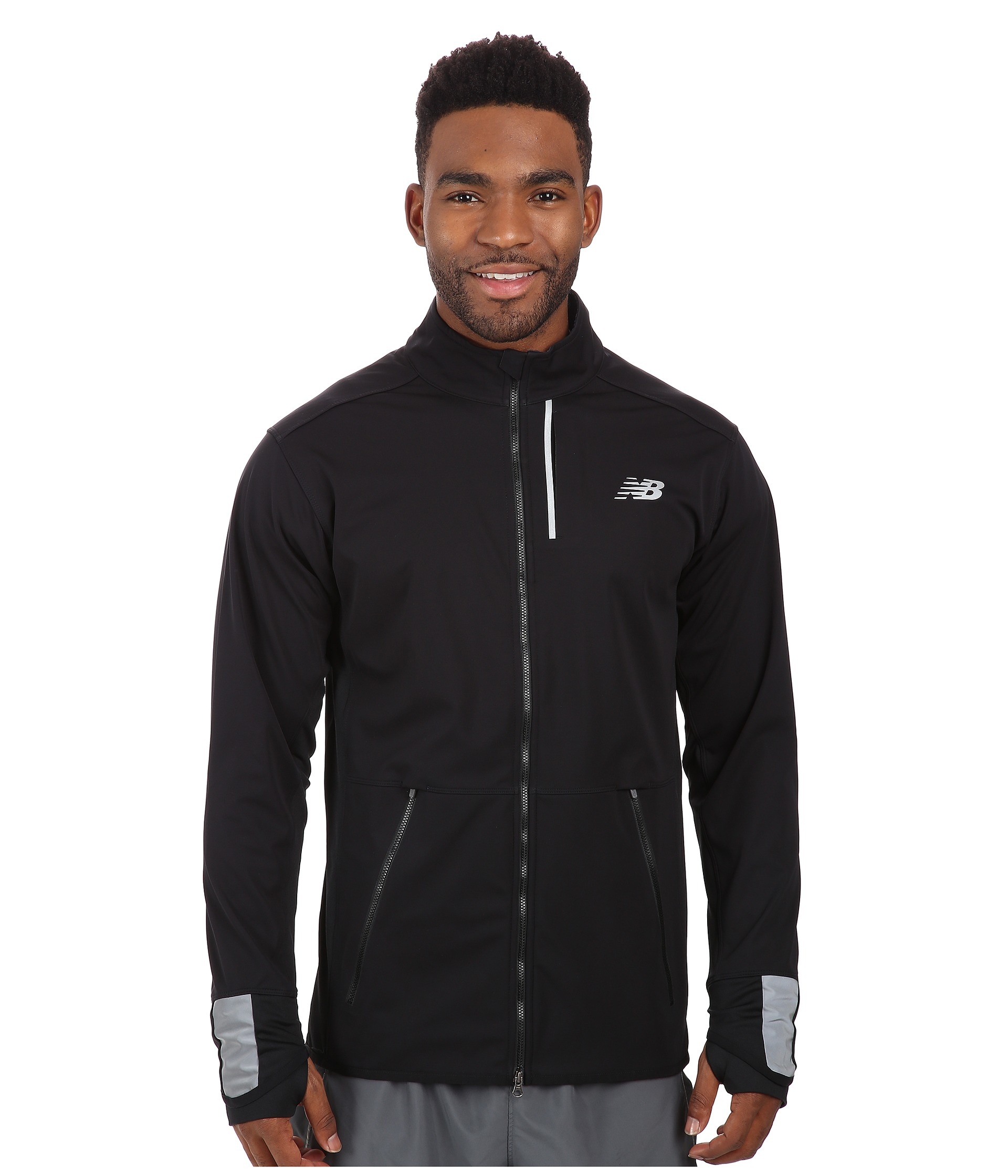 5411751705e0e New Balance Windblocker Jacket in Black for Men - Lyst