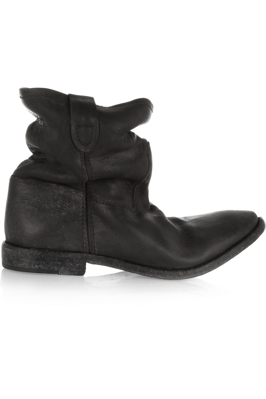 Isabel marant Jenny Slouchy Leather Ankle Boots in Black   Lyst