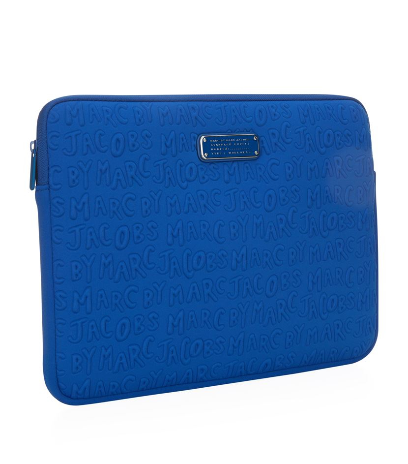 marc by marc jacobs adults suck 13 laptop case in blue lyst. Black Bedroom Furniture Sets. Home Design Ideas