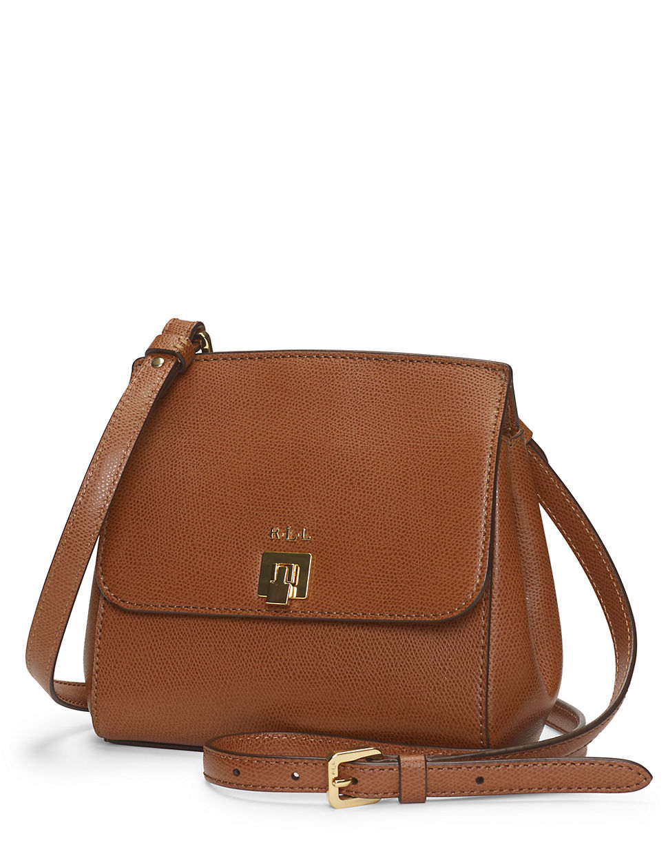 Lauren Ralph Lauren Väskor : Lyst lauren by ralph whitby leather crossbody bag