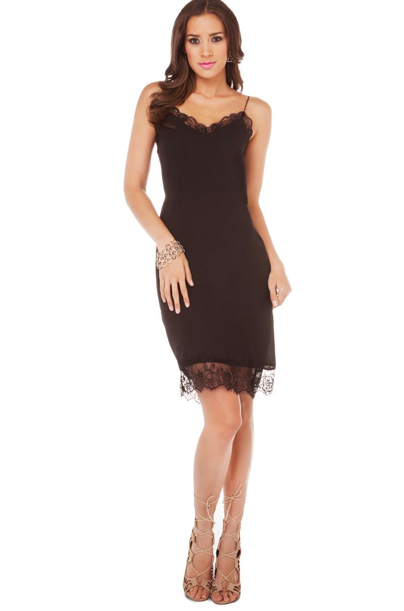 Lace trimmed dresses