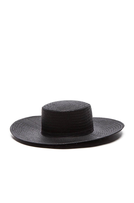 Lyst - Janessa Leone Jalk Hat in Black e9da67220377